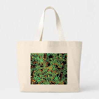 Emoção verde bolsa tote grande