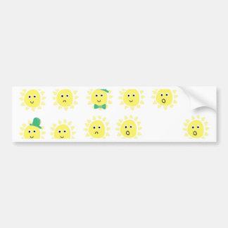 emoções da luz do sol adesivo para carro