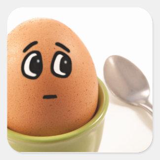 Emoções do ovo adesivo quadrado
