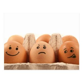 Emoções do ovo cartão postal