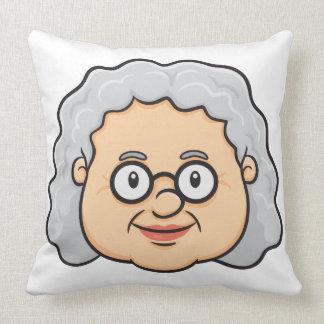 Emoji: Cara da mulher mais idosa Travesseiro