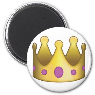 Emoji da coroa ímã redondo 5.08cm