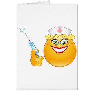 emoji da enfermeira cartão comemorativo