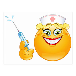 emoji da enfermeira cartão postal