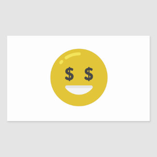 emoji do olho do dinheiro adesivo retangular
