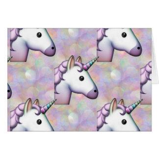emoji do unicórnio do holograma cartão comemorativo