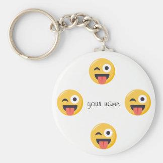 """Emoji enfrenta e '' seu nome aqui """" chaveiro"""