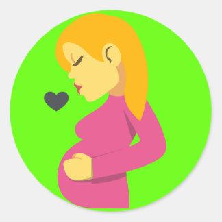 Emoji grávido Loving Adesivo Redondo