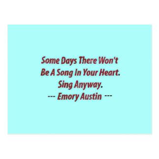 Emory Austin inspirado, citações inspiradores Cartão Postal
