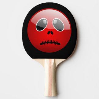 Emoticon vermelho do amigo de Pong Raquete De Ping-pong