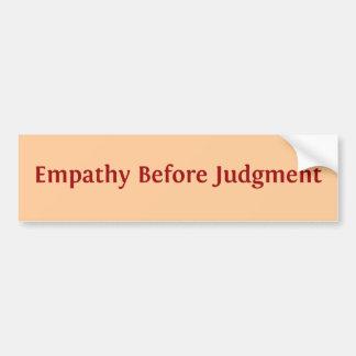 Empatia antes do julgamento adesivo para carro