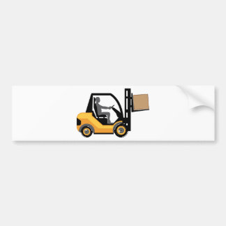 Empilhadeira amarela adesivo para carro