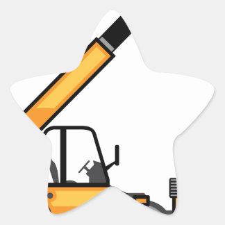 Empilhadeira da construção adesito estrela