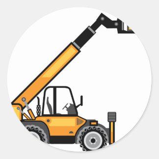 Empilhadeira da construção adesivo