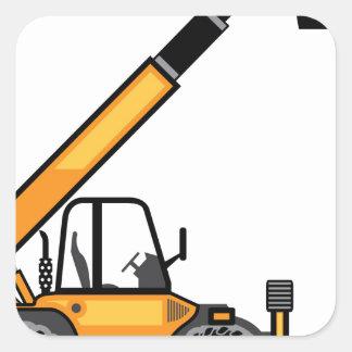 Empilhadeira da construção adesivo quadrado