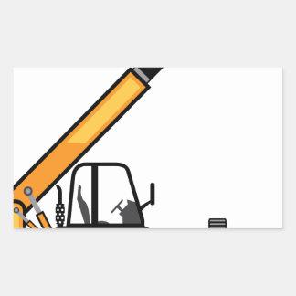 Empilhadeira da construção adesivo retangular