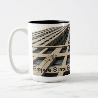 Empire State Building, Nova Iorque Caneca De Café Em Dois Tons