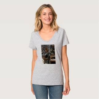 Empluma-se 'n Steampunk de couro galão! T-shirts