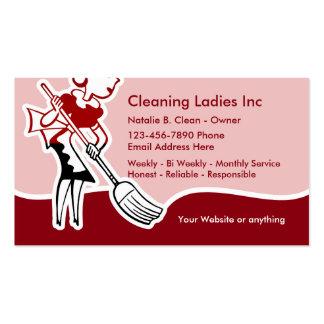 Empregada doméstica da limpeza da casa cartão de visita