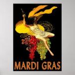 Empregada doméstica do carnaval com uvas poster