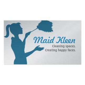 Empregada doméstica HouseCleaning da empregada Cartão De Visita