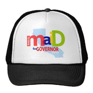 Empregada doméstica para o boné do governador