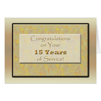 Empregado 15 anos de serviço cartão