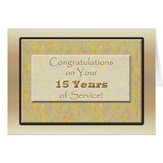 Empregado 15 anos de serviço cartão comemorativo