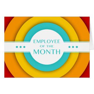 empregado do mês (retro) cartão
