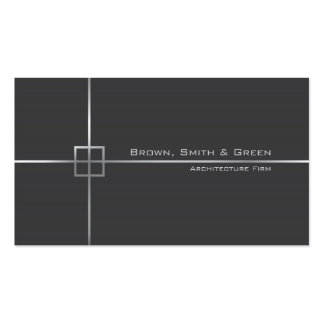 Empresa da arquitetura cartão de visita
