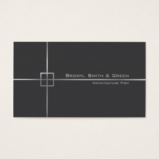 Empresa da arquitetura cartão de visitas