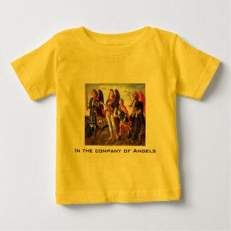 empresa da camisa da criança dos anjos camiseta