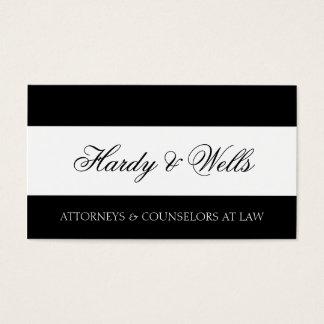 Empresa de advocacia B/W - Cabeçalho disponível - Cartão De Visitas