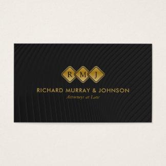 Empresa de advocacia criativa do monograma cartão de visitas
