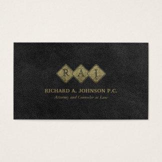 Empresa de advocacia elegante do advogado do cartão de visitas