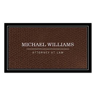 Empresa de advocacia profissional de couro cartão de visita