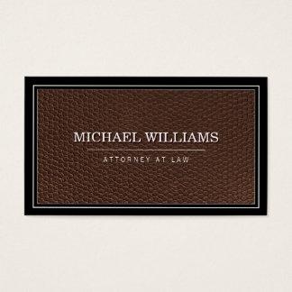 Empresa de advocacia profissional de couro cartão de visitas