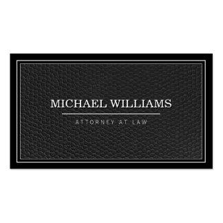Empresa de advocacia profissional de couro preta cartão de visita