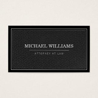 Empresa de advocacia profissional de couro preta cartão de visitas