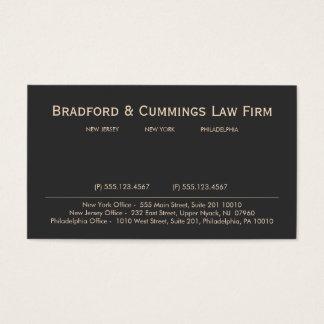Empresa de advocacia profissional do advogado do cartão de visitas