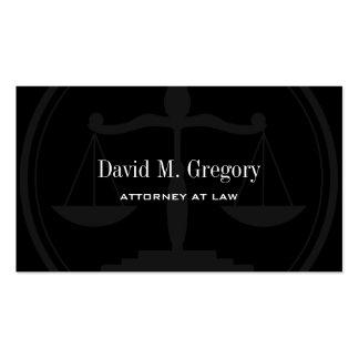 Empresa de advocacia profissional simples do cartão de visita