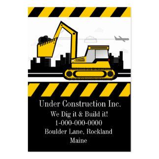 Empresa de construção civil cartão de visita grande