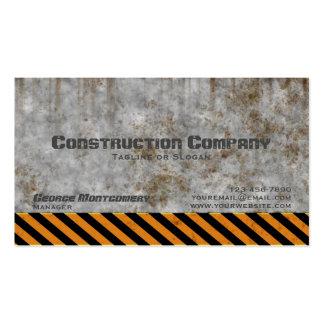 Empresa de construção civil concreta do cuidado cartão de visita