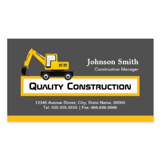 Empresa de construção civil da qualidade - amarelo modelos cartoes de visitas