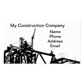 Empresa de construção civil do Highrise Modelo Cartoes De Visitas