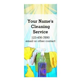 Empresa de serviços feita sob encomenda da limpeza 10.16 x 22.86cm panfleto