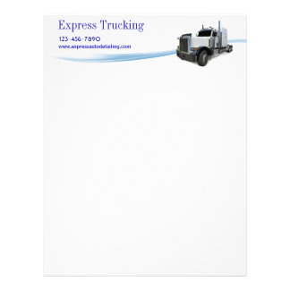 Empresa de transporte por caminhão papel timbrado