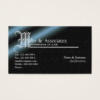 Empresa legal do advogado do advogado da lei cartão de visitas