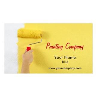 empresa/pintor/designer de interiores da pintura cartão de visita