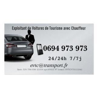 Empresário de Automóveis de Turismo com Motorista Cartão De Visita